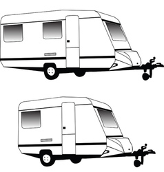 Camping trailer vector image