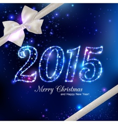 Happy New Year 2015 celebration concept with white vector image vector image