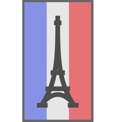 Paris symbol on flag of France background vector image vector image