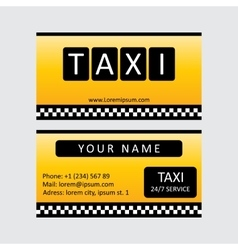 Taxi service card vector image vector image