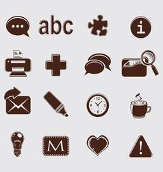 web set icons on grey vector image