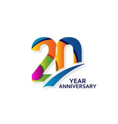 20 years elegant anniversary celebration template vector