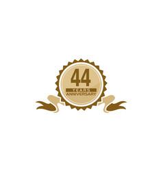 44 years ribbon anniversary vector