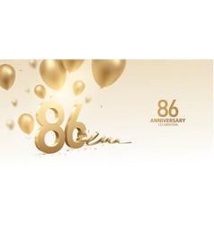 86th anniversary celebration background vector