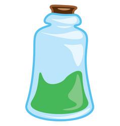 A flask containing elixir or color vector