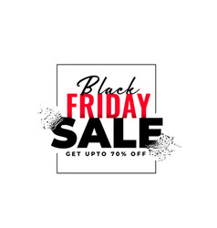 abstract black friday sale banner in explosion vector image