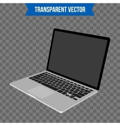 Abstract creative Laptop Isolated mockup on vector
