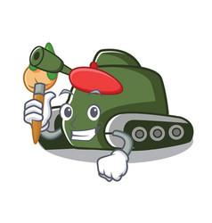 Artist tank character cartoon style vector
