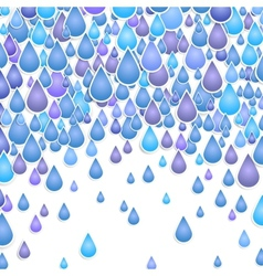background with drops of a rain vector image