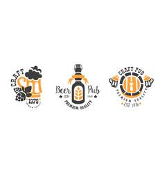 beer premium best quality logo templates design vector image