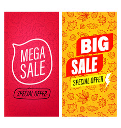 big sale and mega sale banners clip-art vector image