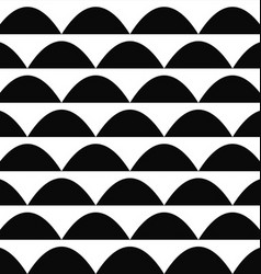 Black and white seamless curved shape pattern vector image