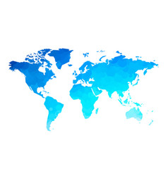 blue circles world map background vector image