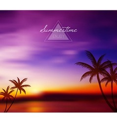 Blurred tropical background vector image
