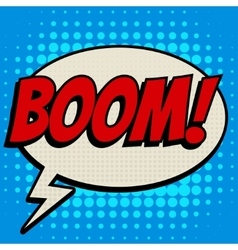 Boom comic book bubble text retro style vector image