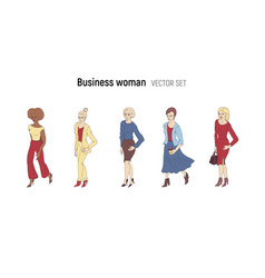 business woman cartoon style vector image