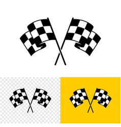 checkered race flags crossed two start or finish vector image