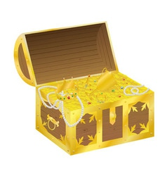 Chest gold vector