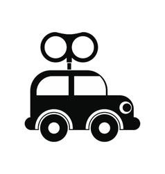 Clockwork toy car icon vector