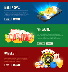 colorful icons set of different casino vector image