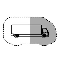 Contour trucks trailer icon vector