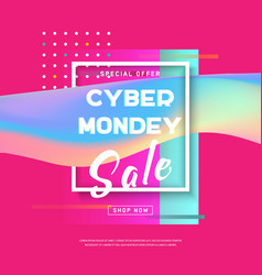 cyber monday concept banner sale poster vector image