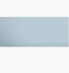 Dark wall and white wood floor room design vector