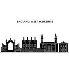 England west yorkshire architecture city vector