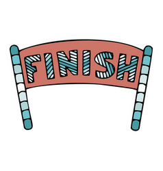 Finish sign in doodle style vector