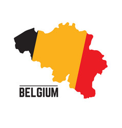 Flag and map of belgium vector