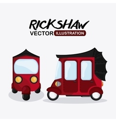 Flat about rickshaw design vector