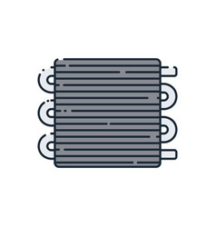 Flat icon on the car radiator vector