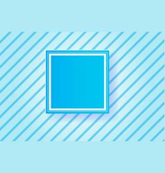 frame blue line backgroundpaper cut style vector image