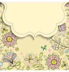 frame on the background of flower doodles patterns vector image