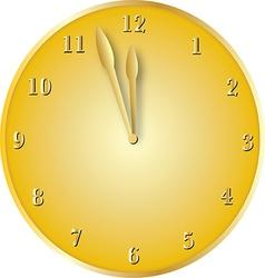 gold clock vector image
