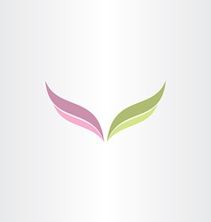 green and purple wings logo vector image