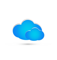 group of blue clouds isolated icon vector image