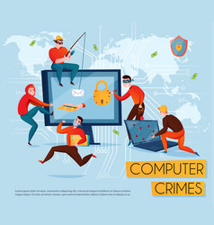 hacker group composition vector image