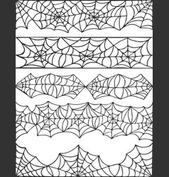 Hand drawn spider web halloween symbol cobweb vector