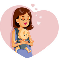 happy mother holding baby vector image