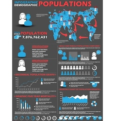 INFOGRAPHIC DEMOGRAPHIC MODERN STYLE 2 vector image