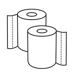Kitchen tissue or toilet tissue paper roll line vector