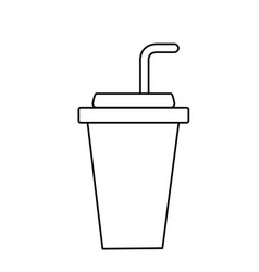 Line yummy and refreshment soda to drink vector