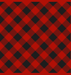 lumberjack plaid pattern textile template vector image