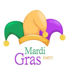 mardi gras jester hat vector image