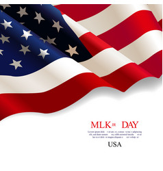 martin luther king day flag usa vector image