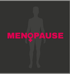 menopause image vector image