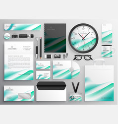 Modern business stationery set for your brand vector