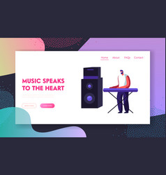 musician performing on stage playing electric vector image
