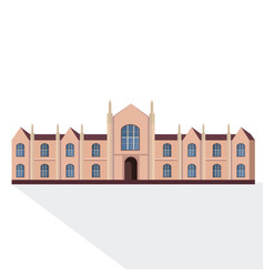 national university or college building exterior vector image